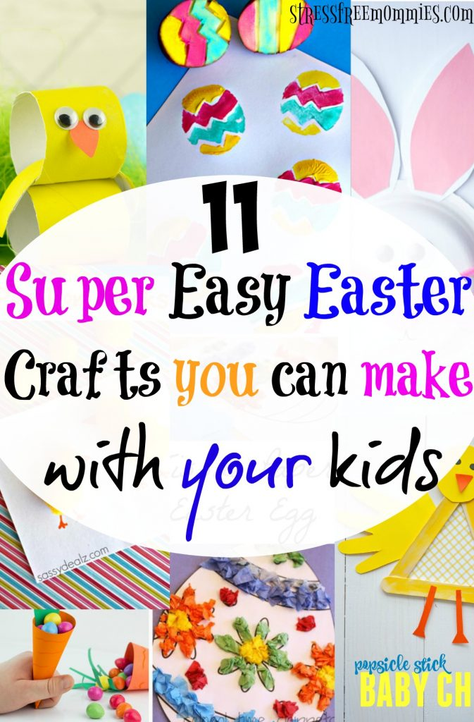 11 super easy Easter crafts you can make with your kids- Calling all crafty moms or non-crafty moms (like me)! Looking for fun and super easy Easter crafts to make with your kids? This list is calling your name, have fun, bond and create memories with your kids, all while creating beautiful Easter crafts. Pin now!