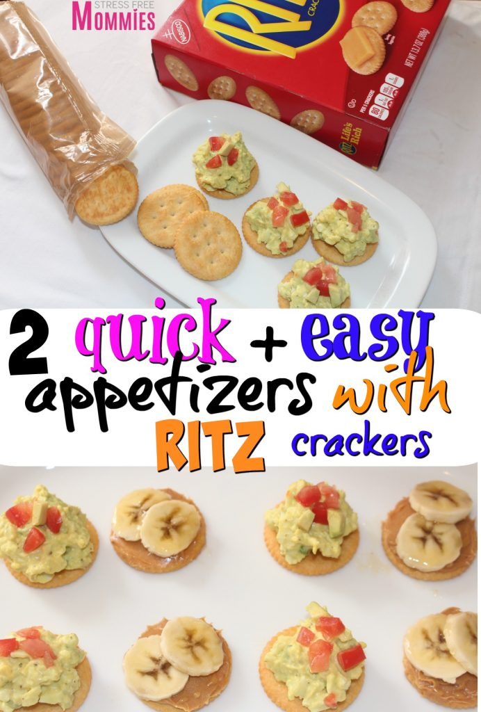 RITZ crackers makes for the perfect snack! Whether you're on the go or want to impress your vistors, these two quick and easy appetizers are a must! Try them today + learn about the awesome in-store demos Walmart is having on 4/15! #RITZpiration #ad