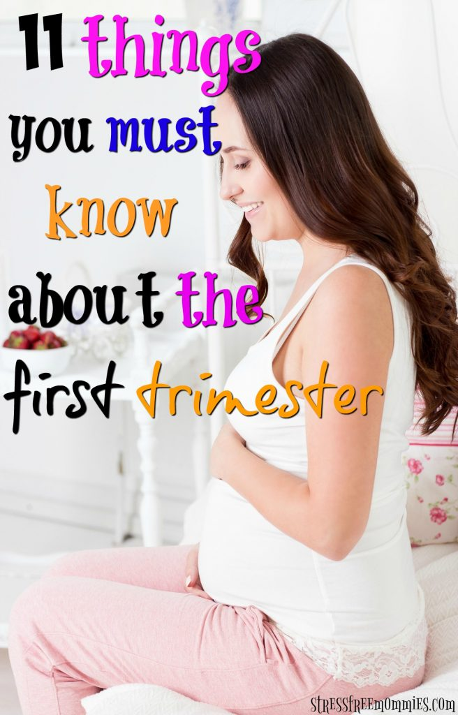 11 things you should know about the first trimester. Just found out you're pregnant? This article is for you! Check out what you should know about the first trimester. From morning sickness, food aversions and fatigue. This article will help you be emotionally and physically ready for the first trimester. Pin now!