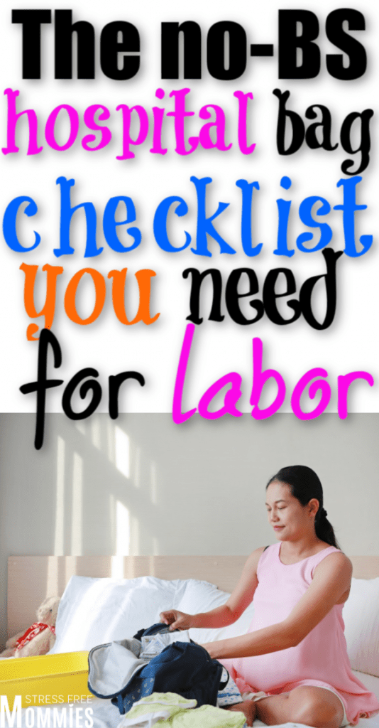 Here's the ultimate hospital bag checklist you need for labor. No BS, no fluff, just labor items you are actually going to use. Hospital bag pdf checklist.