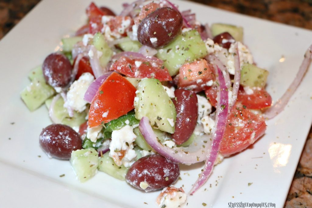 super simple Greek salad