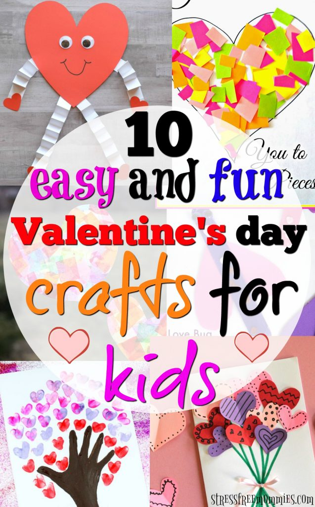 Looking to have fun with your kids on Valentine's day? Here's a list of easy and fun valentine's day crafts you and your kids can create.