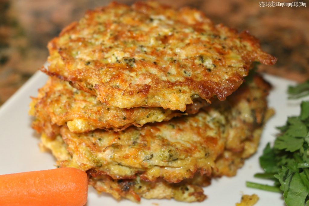 easy kid friendly broccoli and carrot fritters