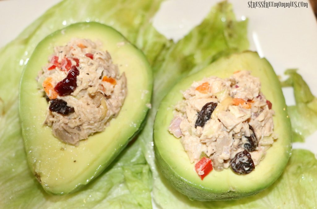 A quick and easy chicken salad stuffed avocado. The perfect light, low carb lunch or dinner. Packed with so much flavor, you got to try this!