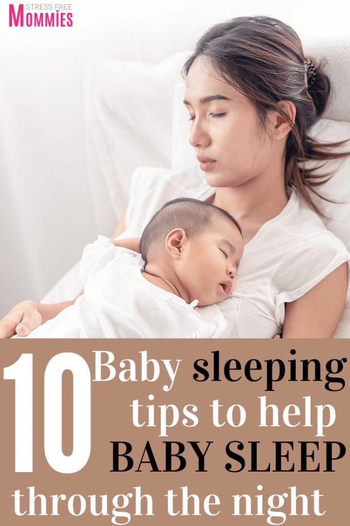 Amazing baby sleeping tips you must read today. Help your baby to sleep through the night in no time. Newborn sleeping tips for new moms. New mom tips. Newborn baby advice. Motherhood tips. Baby sleeping advice.