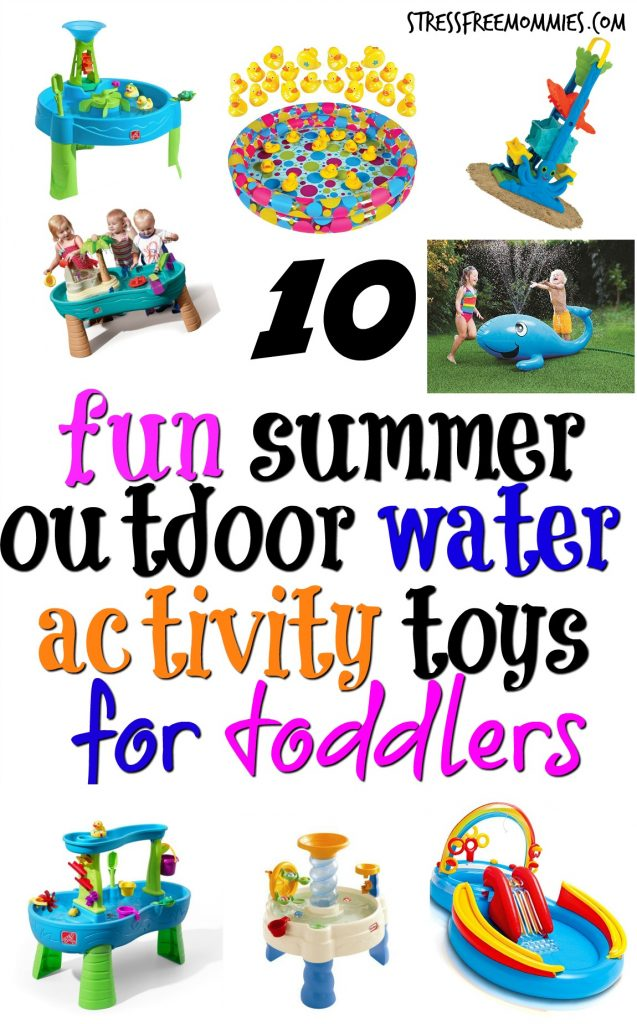 10 fun summer outdoor water activity toys for toddlers-Find the right outdoor water activity toys for your little one. Who needs a big pool to cool off? #summer #toddler #summertoys #parenting