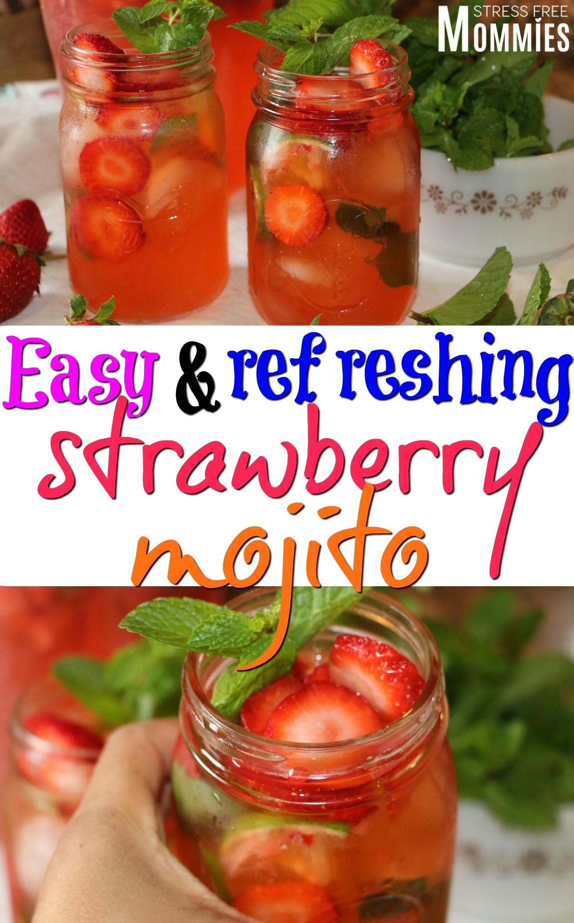 Easy and refreshing strawberry mojitos