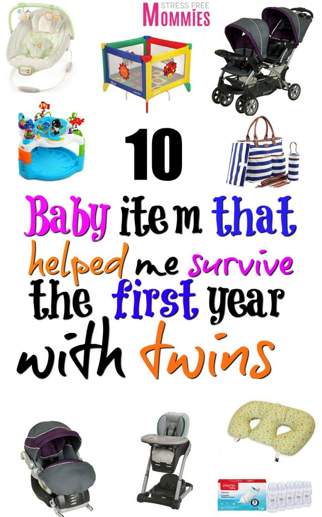 A detailed list of the baby items you need to survive the first year with twins.Be prepared with these helpful products to survive life with twins!