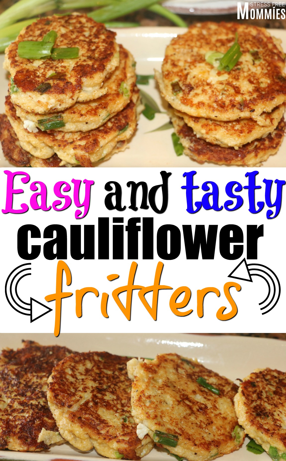easy and tasty cauliflower fritters (kid-friendly)