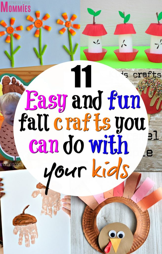 11 easy and fun fall crafts you can do with your kids- Get excited with these super cute fall crafts that are easy enough to make with your kids!