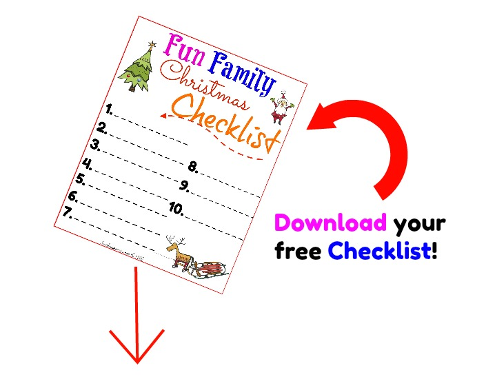Free Fun family Christmas checklist