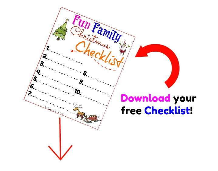 Free Fun family Christmas checklist