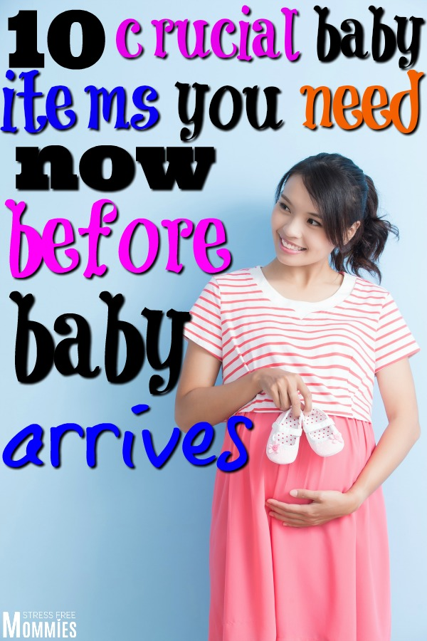 The ultimate list of baby items that you need now before baby arrives. An essential and basic baby items list you're going to need the first few months!