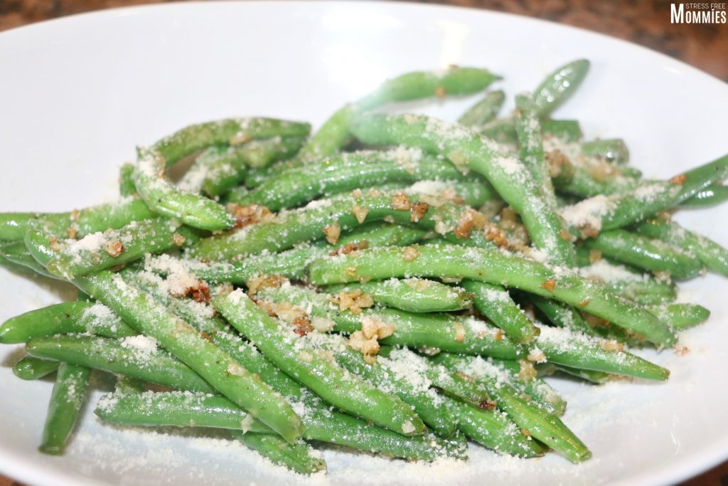 green beans in garlic and parmesan cheese1