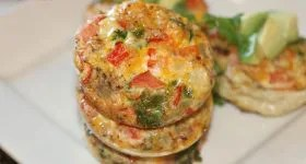 easy cheesy vegetarian egg muffins