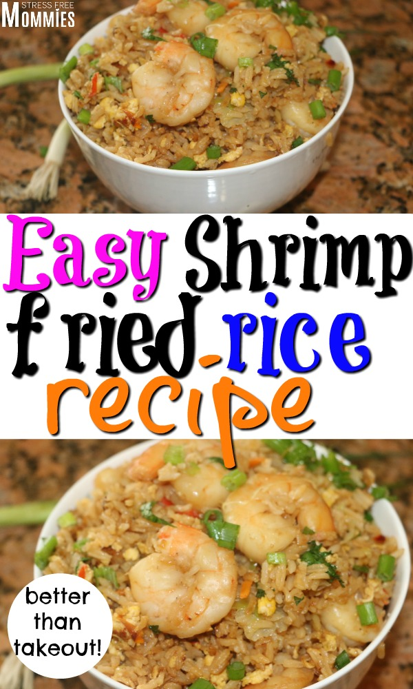 How to make the easiest and tastiest shrimp fried rice. It's so much better than takeout and delicious. Learn how to make shrimp fried rice today!