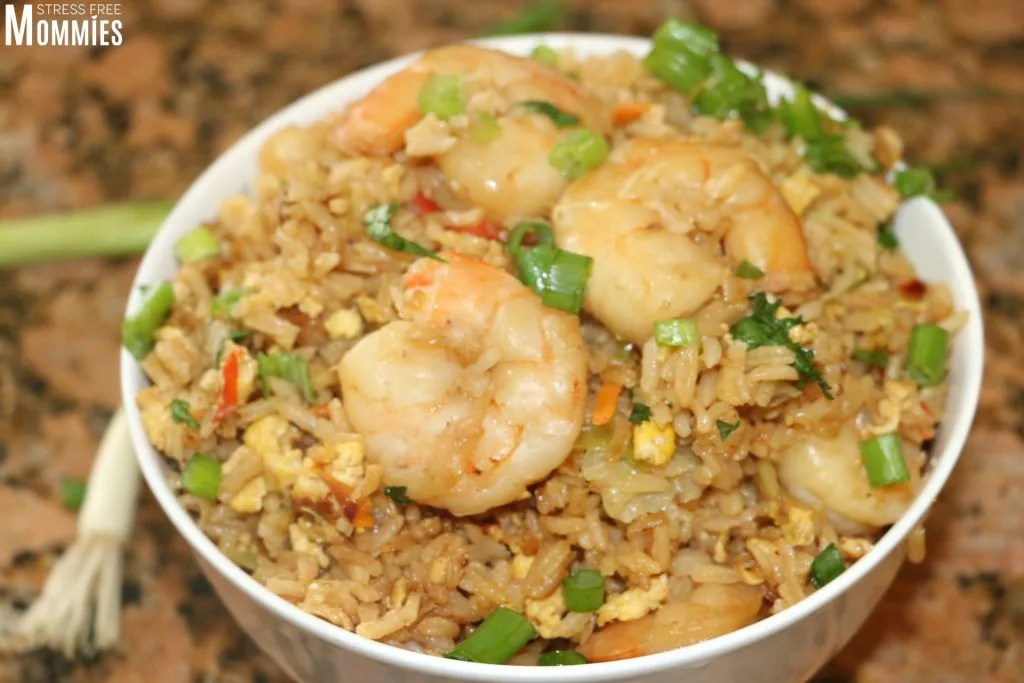 how to make the best shrimp fried rice ever! better than takeout and family favorite!