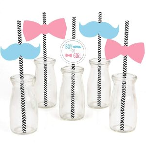 straws for gender reveal party