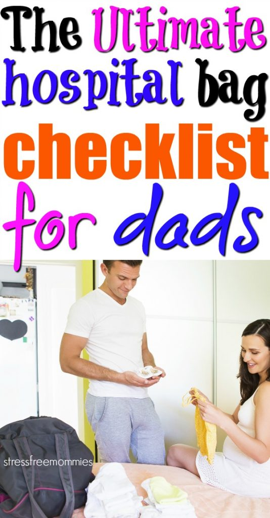Here's the ultimate hospital bag checklist for dads. Dads to be also need to be prepared when staying in the hospital. Get the hospital survival kit for dad!