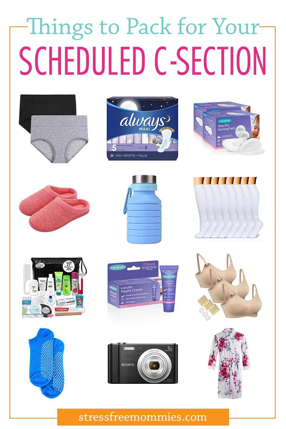 20 things you must pack in your hospital bag for a scheduled c-section