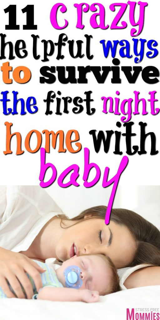 Bringing home baby from the hospital? These are the 11 ways to survive the first night home with newborn. Tips to survive the first few nights with baby!