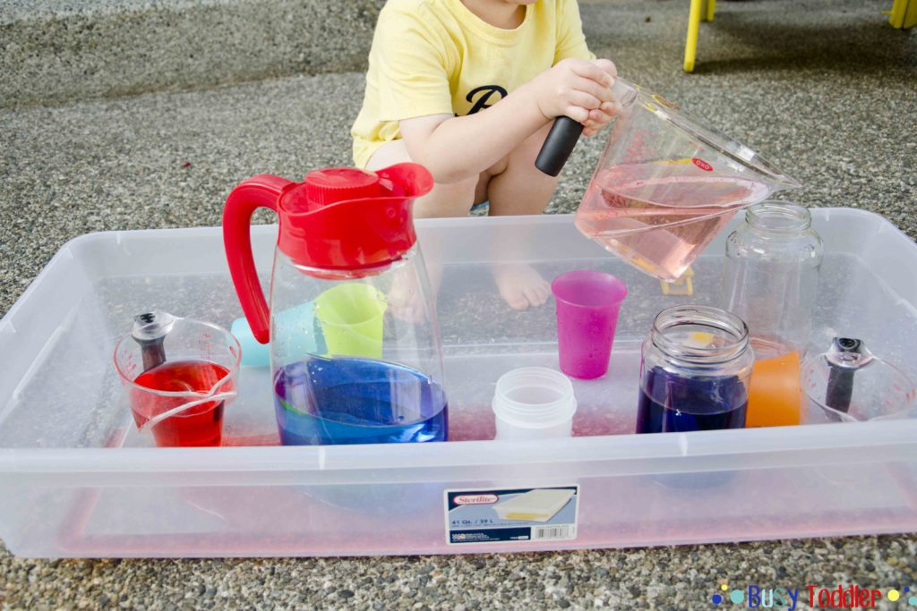 activities for toddler pouring station