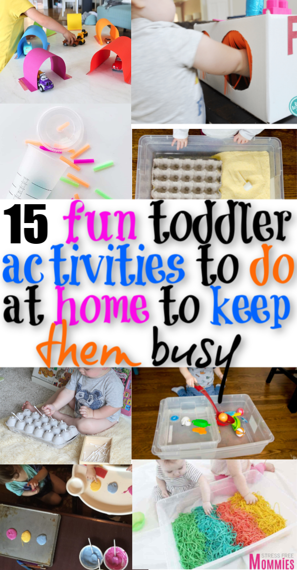 15 Super fun toddler activities to do at home to keep them busy