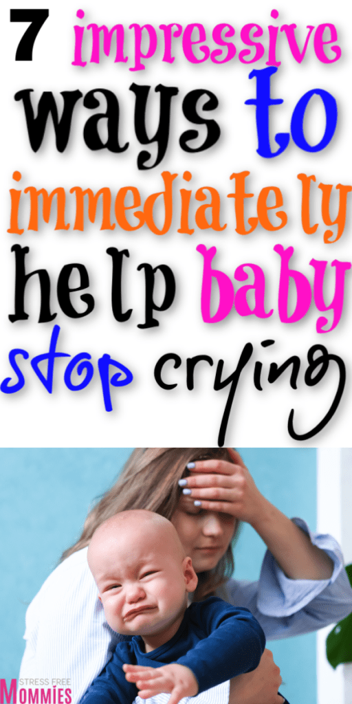 Baby won't stop crying? Try these ways to help baby stop crying today. Realistics ways to make baby stop crying. Newborn tips for crying baby. First time mom tips. Calm a fussy baby to stop crying. Tips to soothe your crying baby. New mom tips. Newborn baby tips every mom should know.