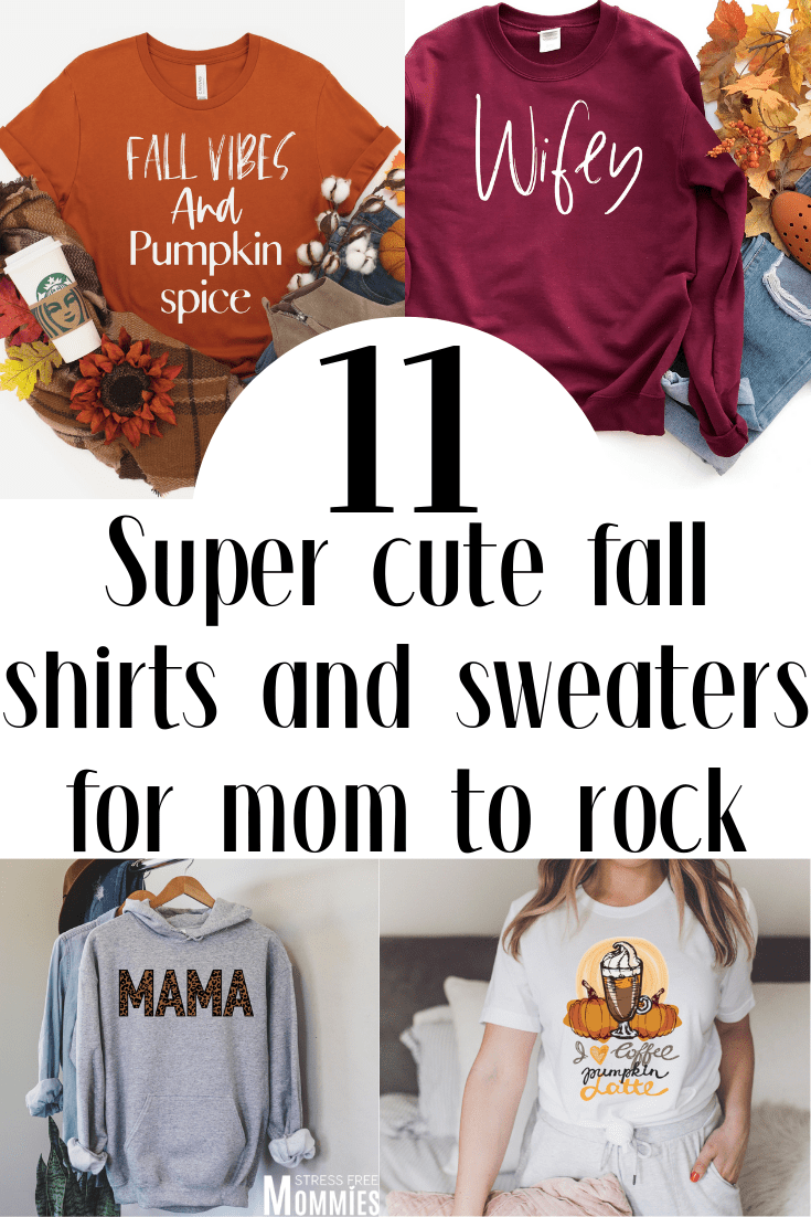 11 Super cute fall shirts and sweaters for mom