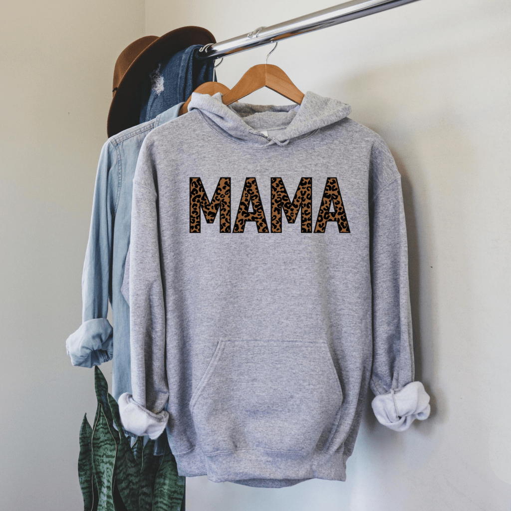 mama leopard hoodie, hoodies for women, fall sweater hoodie