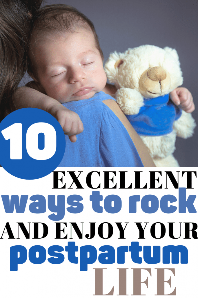 excellent ways to rock your postpartum life. Quick tips for the fourth trimester. After birth tips. Postpartum care tips.