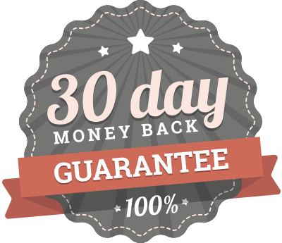 100% 30 day money back guarantee