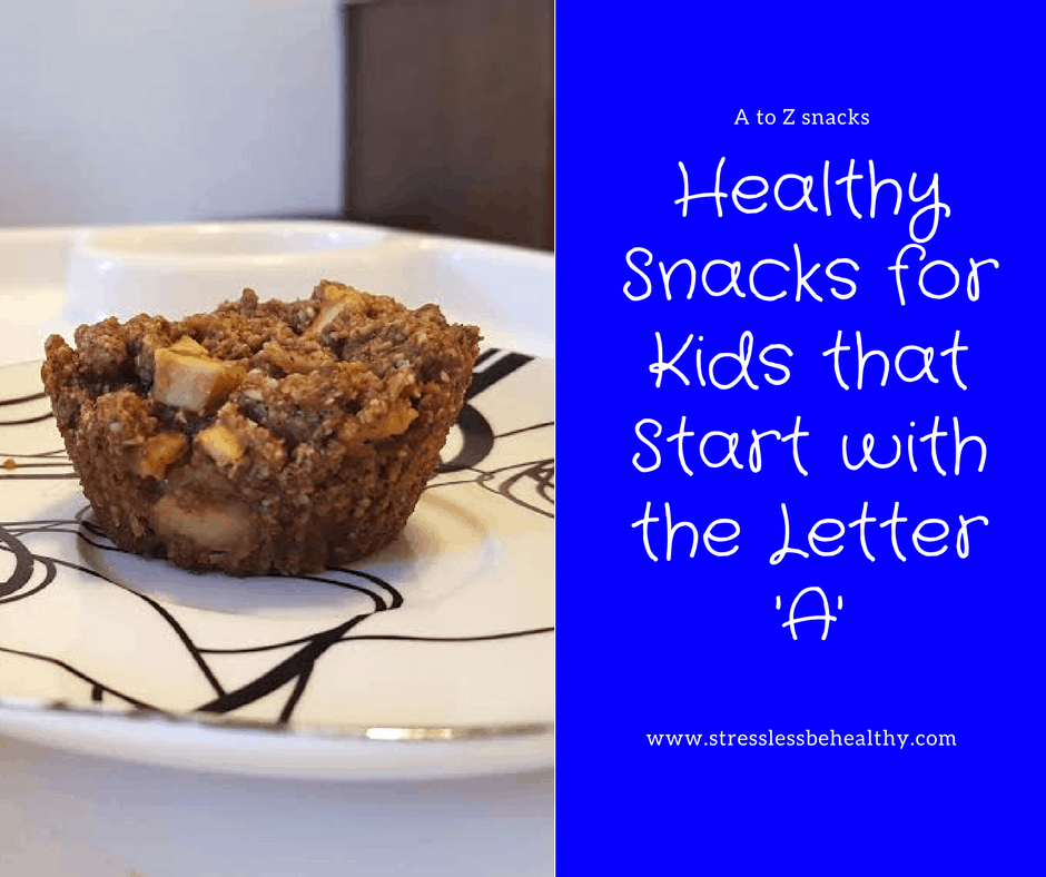 snacks that start with a, letter a snacks, alphabet snacks, snacks for kids, healthy snacks, healthy snacks for kids