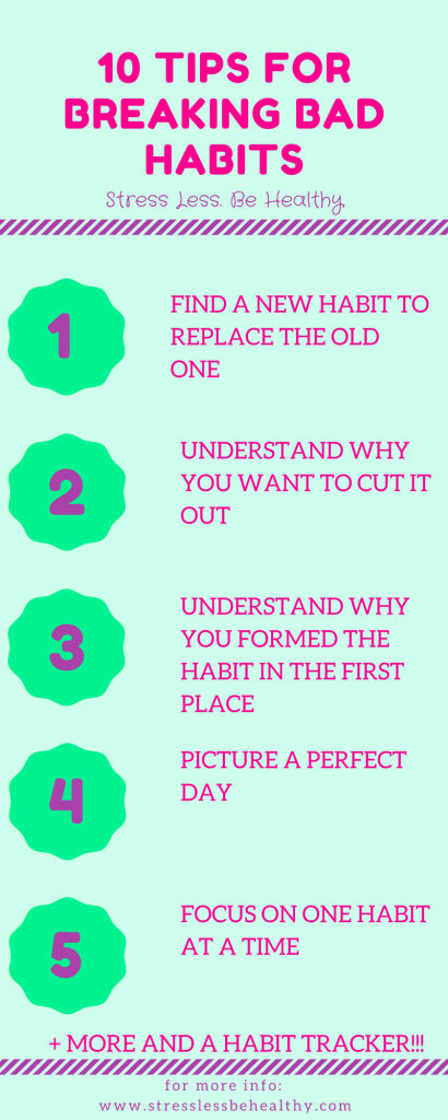 Want to break you bad habits? Try these tips! break bad habits, habit tracker, break habits, change habits, better self