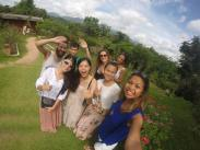 Bonded over selfie pics at a random tourist spot at Pai