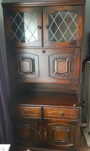 Upcycling Solid Oak Wall Unit