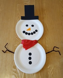 Christmas Paper Plate Crafts - Paper Plate Snowman