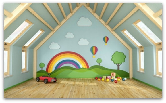 Ideas for creating a playroom for the kids