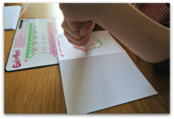 Creating cards with Gel-a-Peel