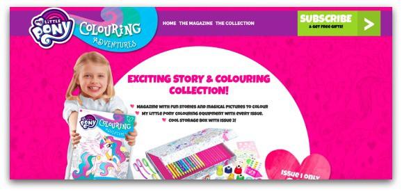 My Little Pony Colouring Adventures Website