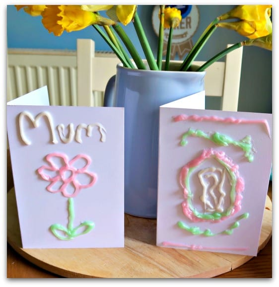 Finished Gel-a-Peel Mother's Day Cards