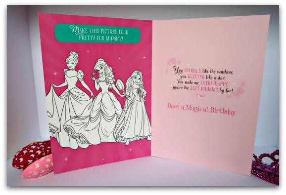 Hallmark Disney Princess Card for Mum Inside