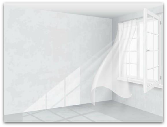 avoid heavy curtains