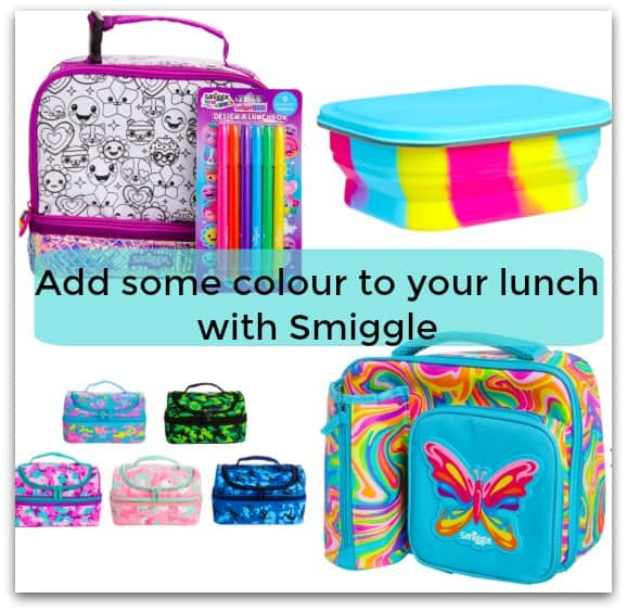 Add some colour to your lunch with Smiggle