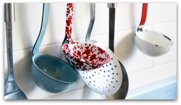 Adding accessories to brighten up the kitchen