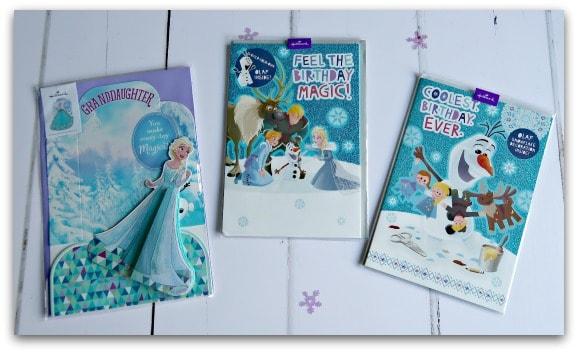 Frozen cards from Hallmark