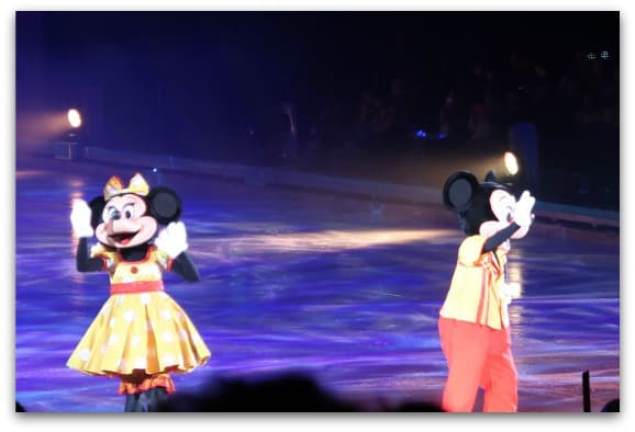 Disney On Ice Worlds of Enchantment is introduced by the fab four, Mickey, Minnie, Goofy and Donald