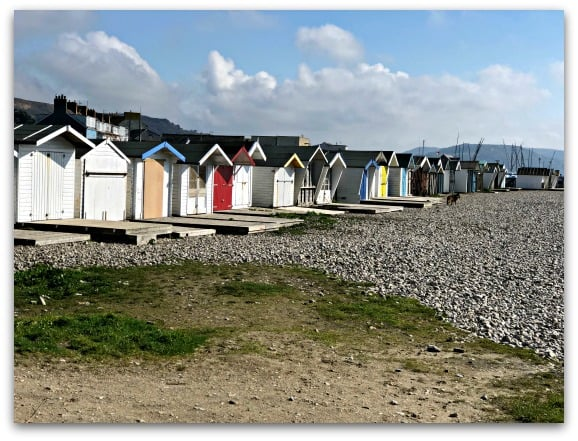 Beach huts on Monmouth Beach, Lyme Regis