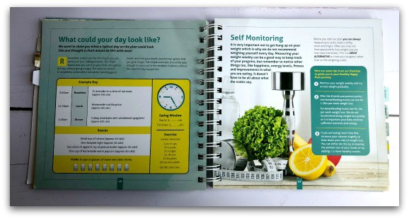 An example of inside The Healthy Happy Mum Plan Manual by Katie Piper and Terrie-Ann Nunns