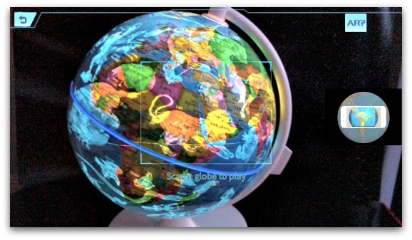 Smart Globe Myth from Oregon Scientific Dinosaur Spotting using the AR App